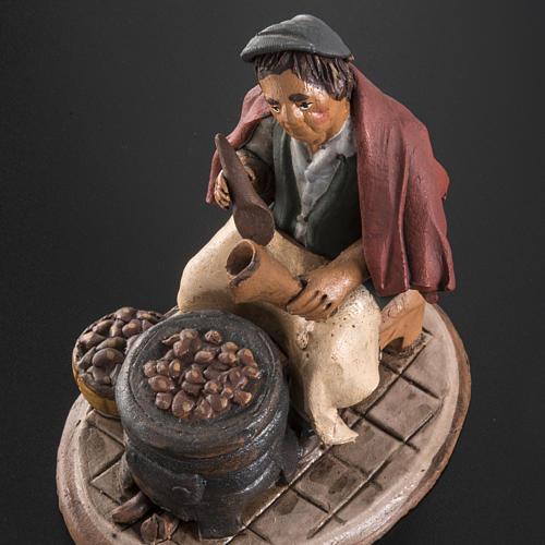 Venditore di castagne terracotta 18 cm 5