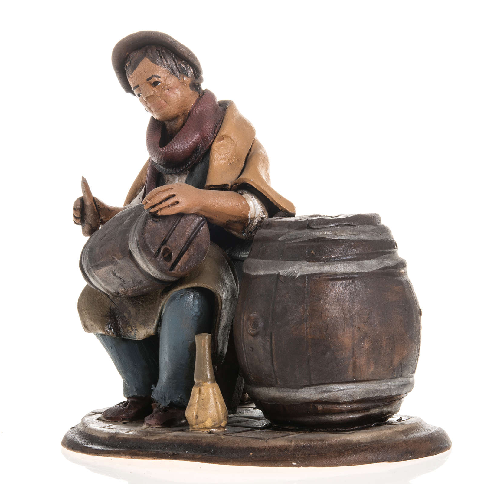 Man fixing casks, 18cm terracotta 4