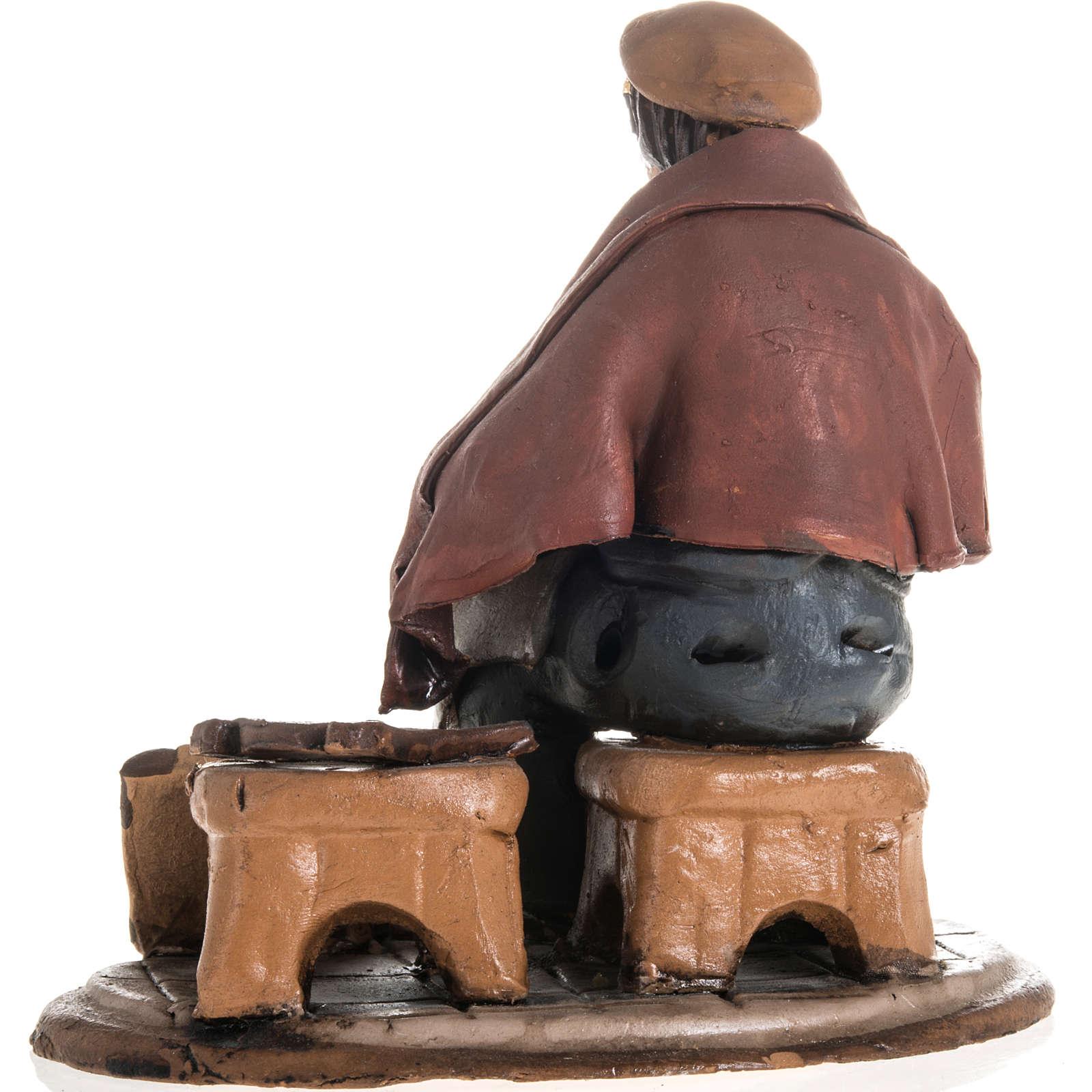 Reparador de sillas para el pesebre en terracota 18cm 4