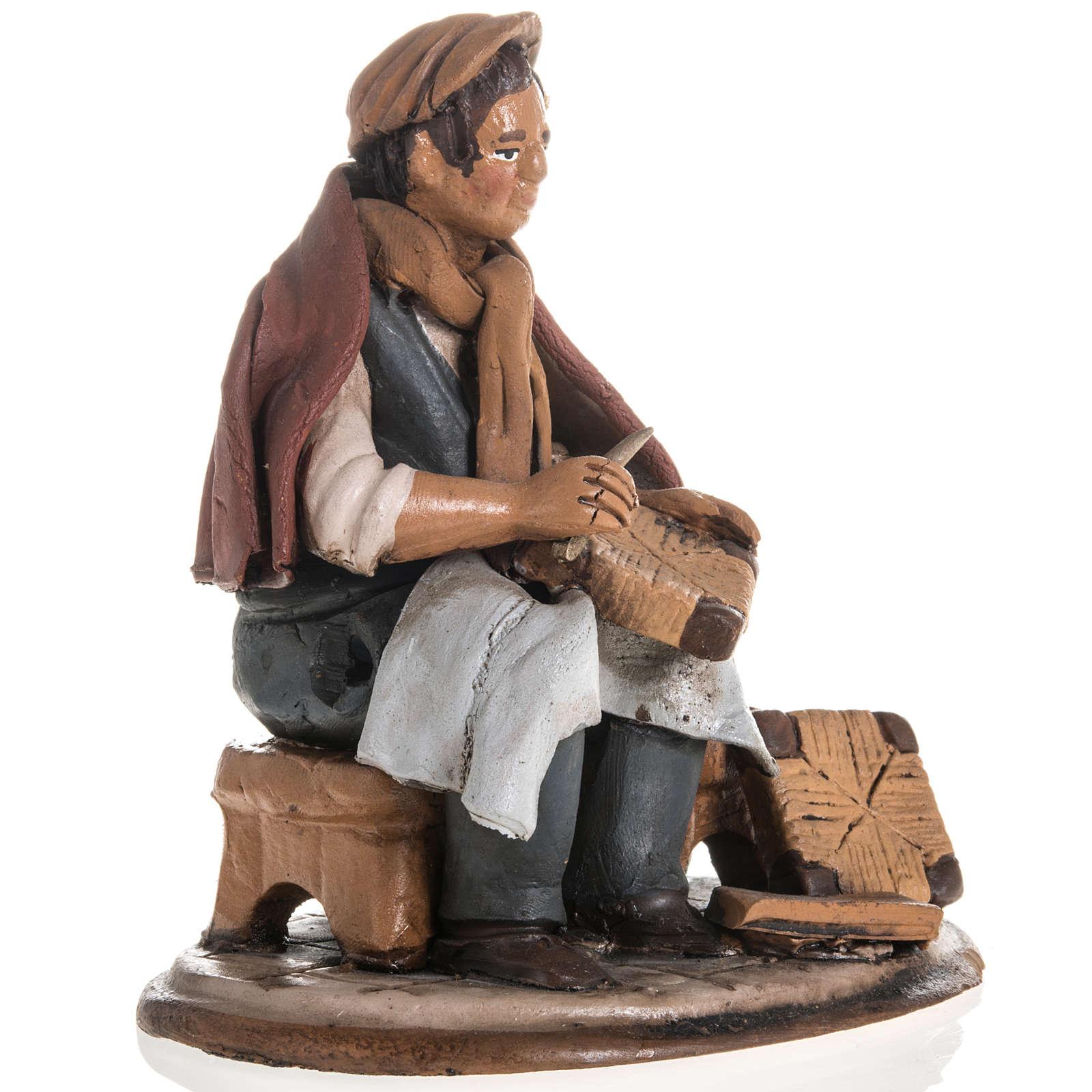 Shoe repairer Christmas crib terracotta 18 cm 4