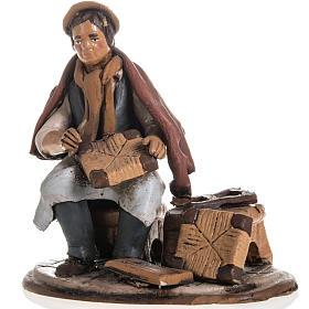 Shoe repairer Christmas crib terracotta 18 cm s1