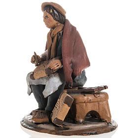 Shoe repairer Christmas crib terracotta 18 cm s2