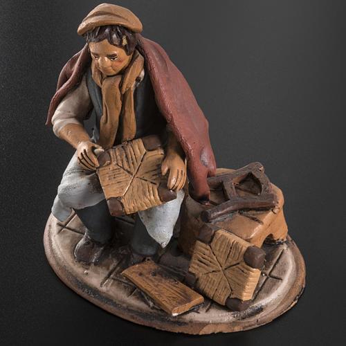 Shoe repairer Christmas crib terracotta 18 cm 5