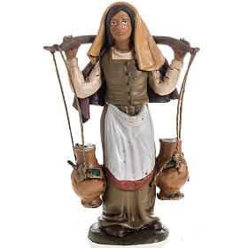 Presépio Terracota Deruta: Vendedora de água em terracota para presépio de Deruta com figuras de  18 cm altura média