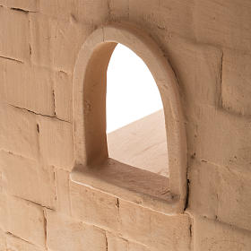 Capanna presepe terracotta illuminata Deruta s5