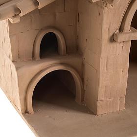 Capanna presepe terracotta illuminata Deruta s7