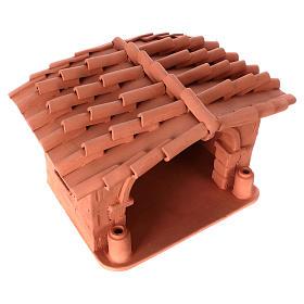 Capanna presepe terracotta illuminata Deruta s4