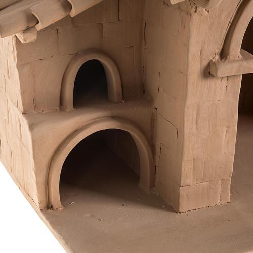 Capanna presepe terracotta illuminata Deruta 7