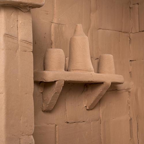 Capanna presepe terracotta illuminata Deruta 8