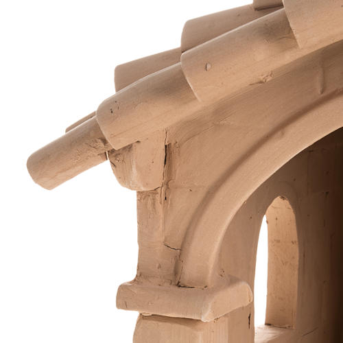 Capanna per presepe terracotta naturale illuminata 7