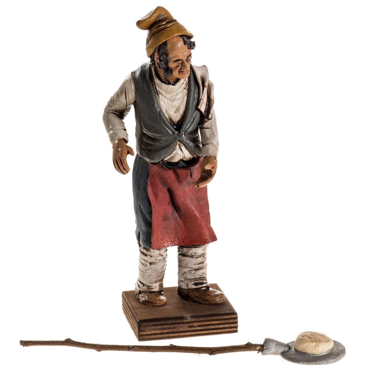 Panadero para el pesebre en terracota 18cm 4