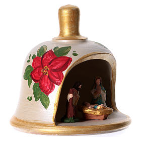 Bell in painted terracotta with nativity s4