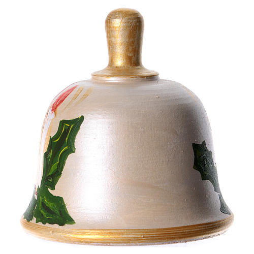 Bell in painted terracotta with nativity 7