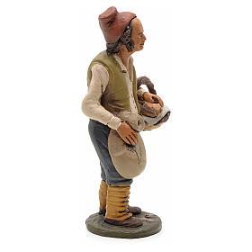 Man with bread, 18cm terracotta, Deruta s4