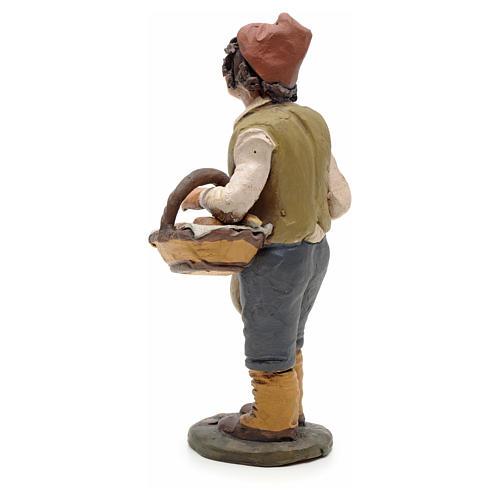 Man with bread, 18cm terracotta, Deruta 3
