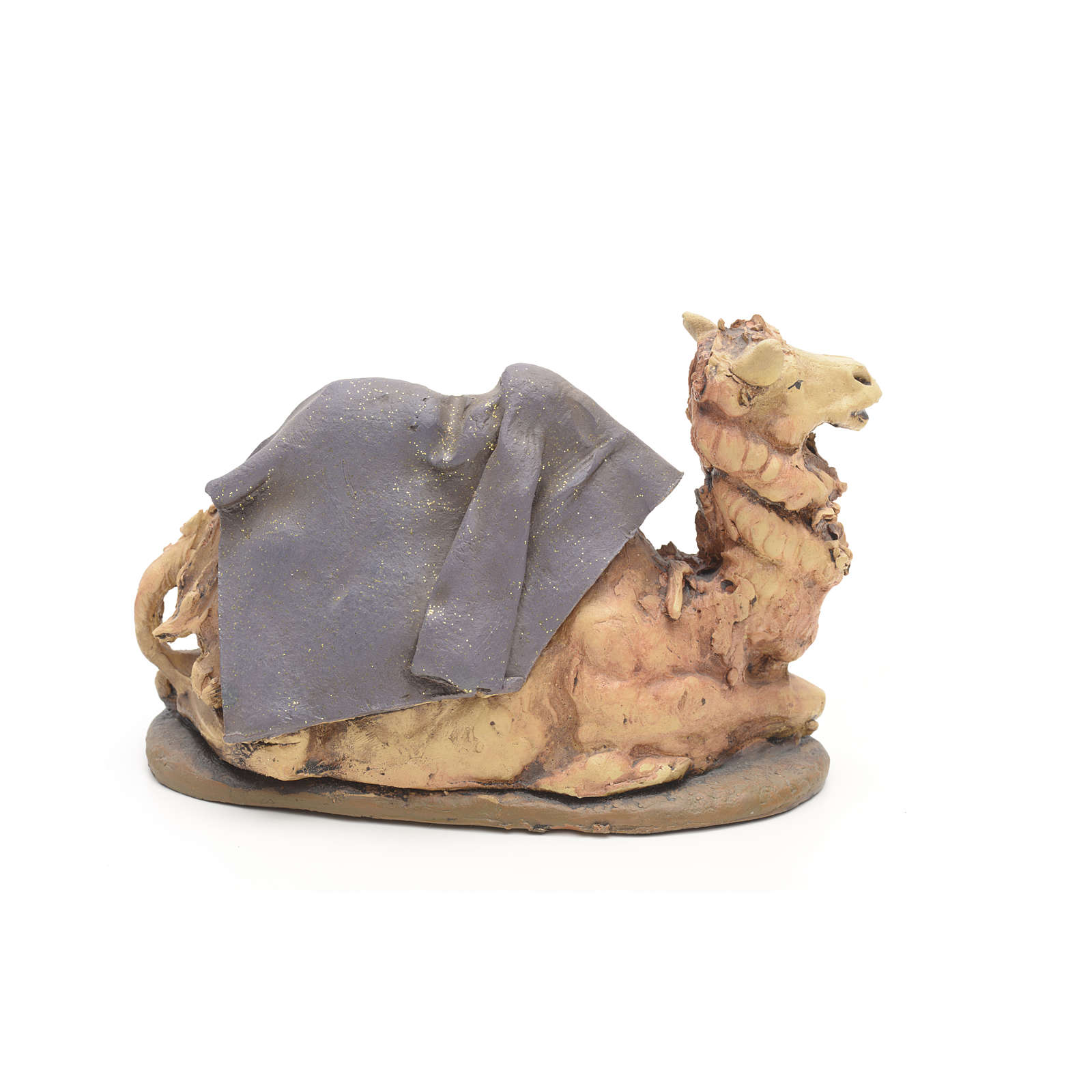 Purple camel, 18cm terracotta, Deruta 4