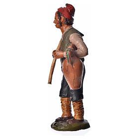 Uomo con zappa e anfora 18 cm presepe terracotta s3