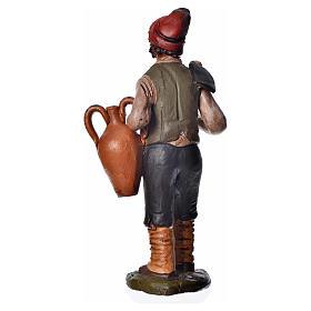 Uomo con zappa e anfora 18 cm presepe terracotta s4