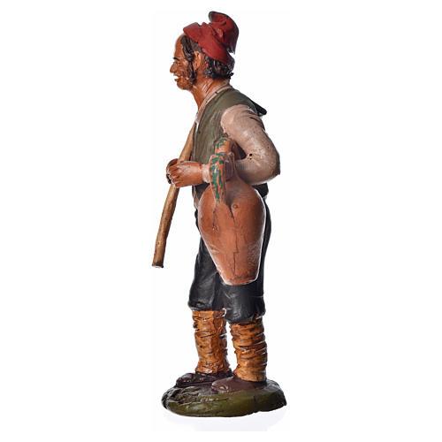 Uomo con zappa e anfora 18 cm presepe terracotta 3