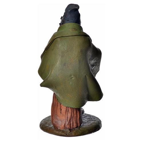 Zampognaro 18 cm presepe Deruta terracotta 4