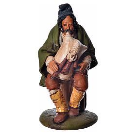 Presépio Terracota Deruta: Gaiteiro em terracota para presépio de Deruta com figuras de  18 cm altura média