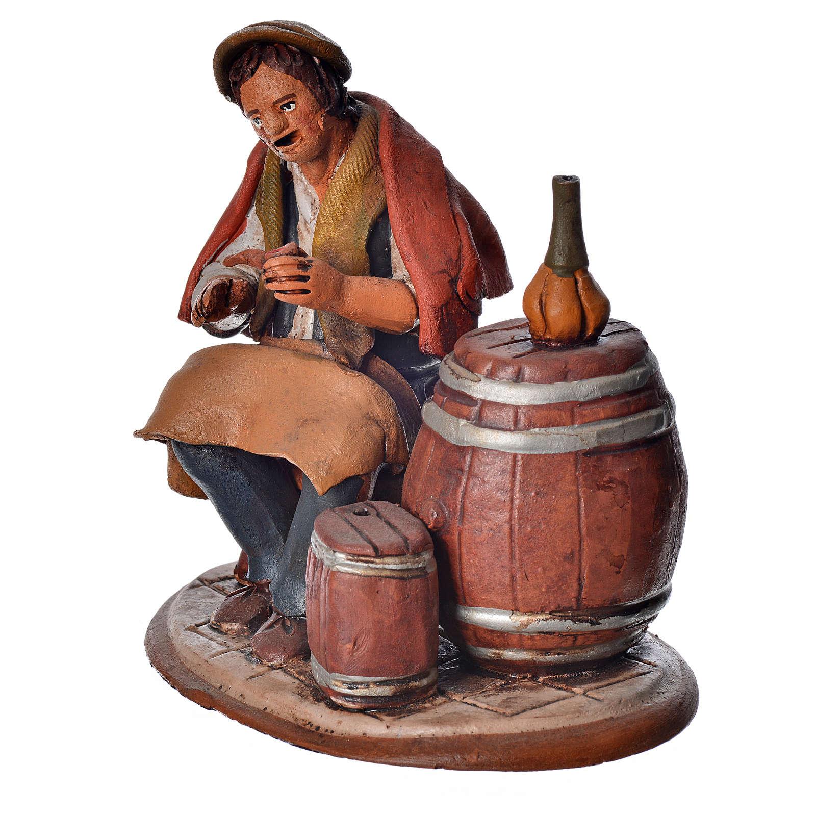 Vinaio 18 cm presepe Deruta terracotta 4