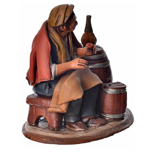 Vinaio 18 cm presepe Deruta terracotta 2