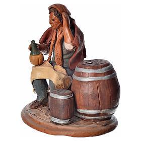 Cantiniere 18 cm presepe Deruta terracotta s3