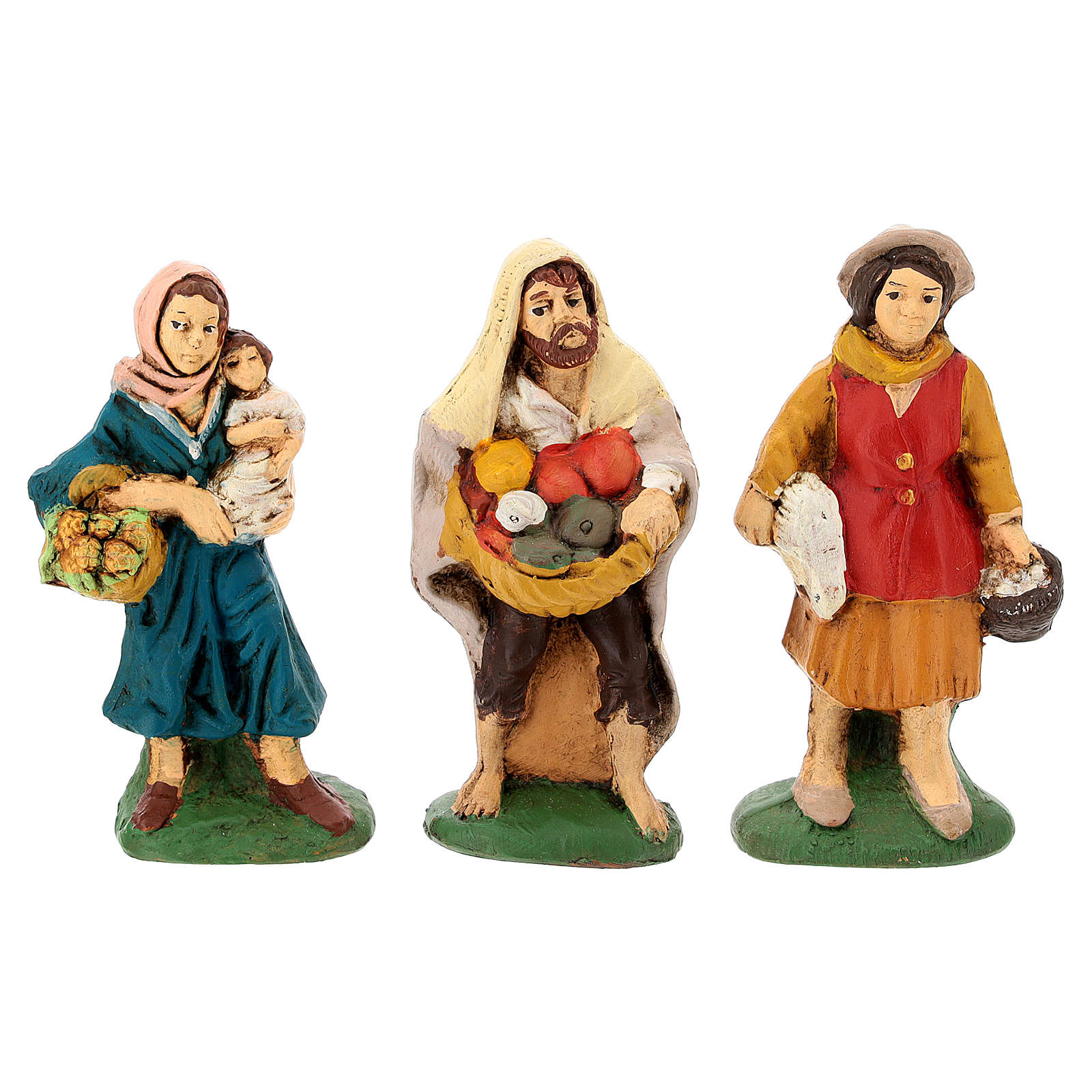 Nativity painted Terracotta 20 pcs. h. 10cm 4