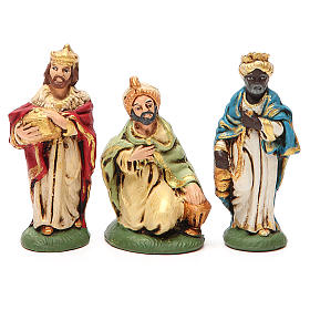Nativity painted Terracotta 20 pcs. h. 10cm s3