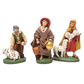 Nativity painted Terracotta 20 pcs. h. 10cm s4