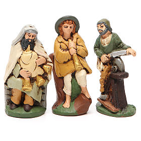 Nativity painted Terracotta 20 pcs. h. 10cm s6