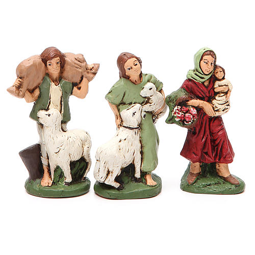 Nativity painted Terracotta 20 pcs. h. 10cm 5