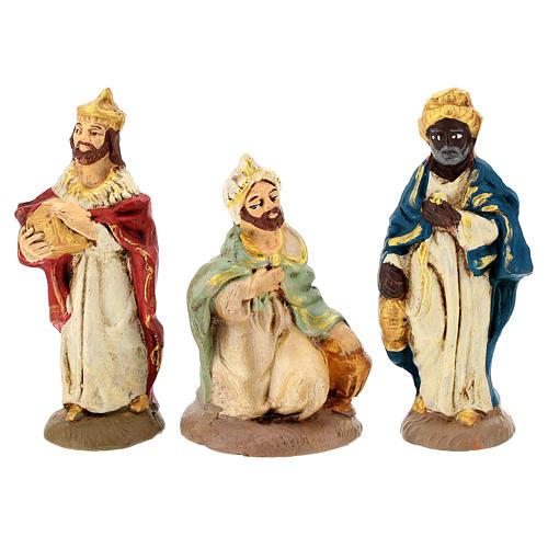 Nativity painted Terracotta 20 pcs. h. 10cm 3
