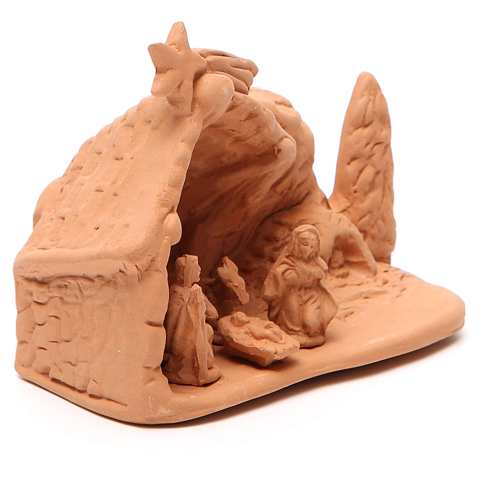 Święta Rodzina z otoczeniem terakota 10x12x8 cm 4