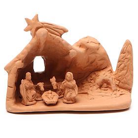 Święta Rodzina z otoczeniem terakota 10x12x8 cm s1