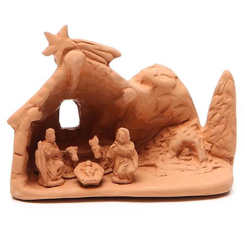 Święta Rodzina z otoczeniem terakota 10x12x8 cm 1