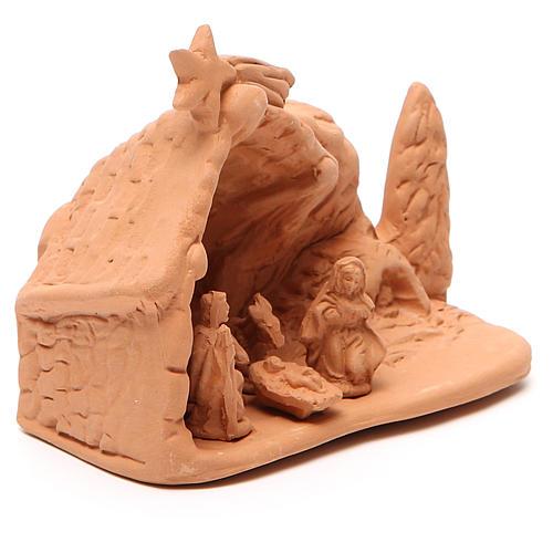 Święta Rodzina z otoczeniem terakota 10x12x8 cm 3