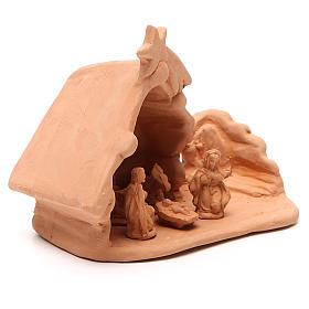 Natività e casolare terracotta 11x12x7 cm s3