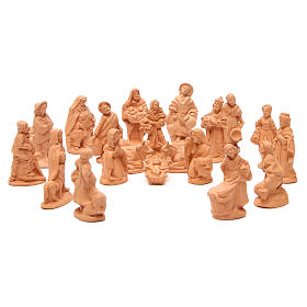 Presépio Terracota Deruta: Presépio terracota natural com 20 figuras de 10 cm de altura média