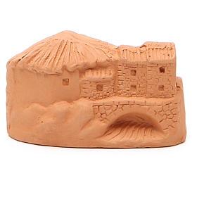 Miniature Nativity natural terracotta 5x4x7cm s4