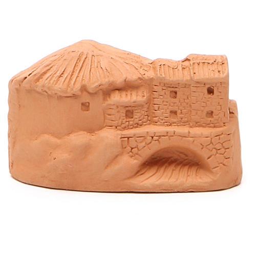 Miniature Nativity natural terracotta 5x4x7cm 4