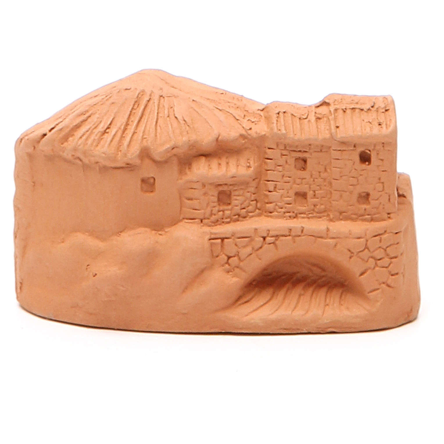 Natività in miniatura terracotta naturale 5x4x7 cm 4