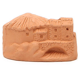 Natività in miniatura terracotta naturale 5x4x7 cm s4