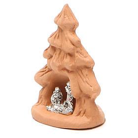 Árvore Natal e Natividade terracota natural 7x5x4 cm s2