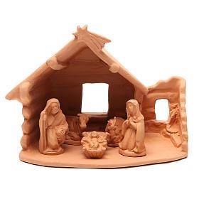 Presépio Terracota Deruta: Natividade com cabana terracota 20x22x16 cm