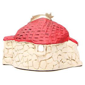 Natività con capanna terracotta rosso h. 15x20x11 cm s4