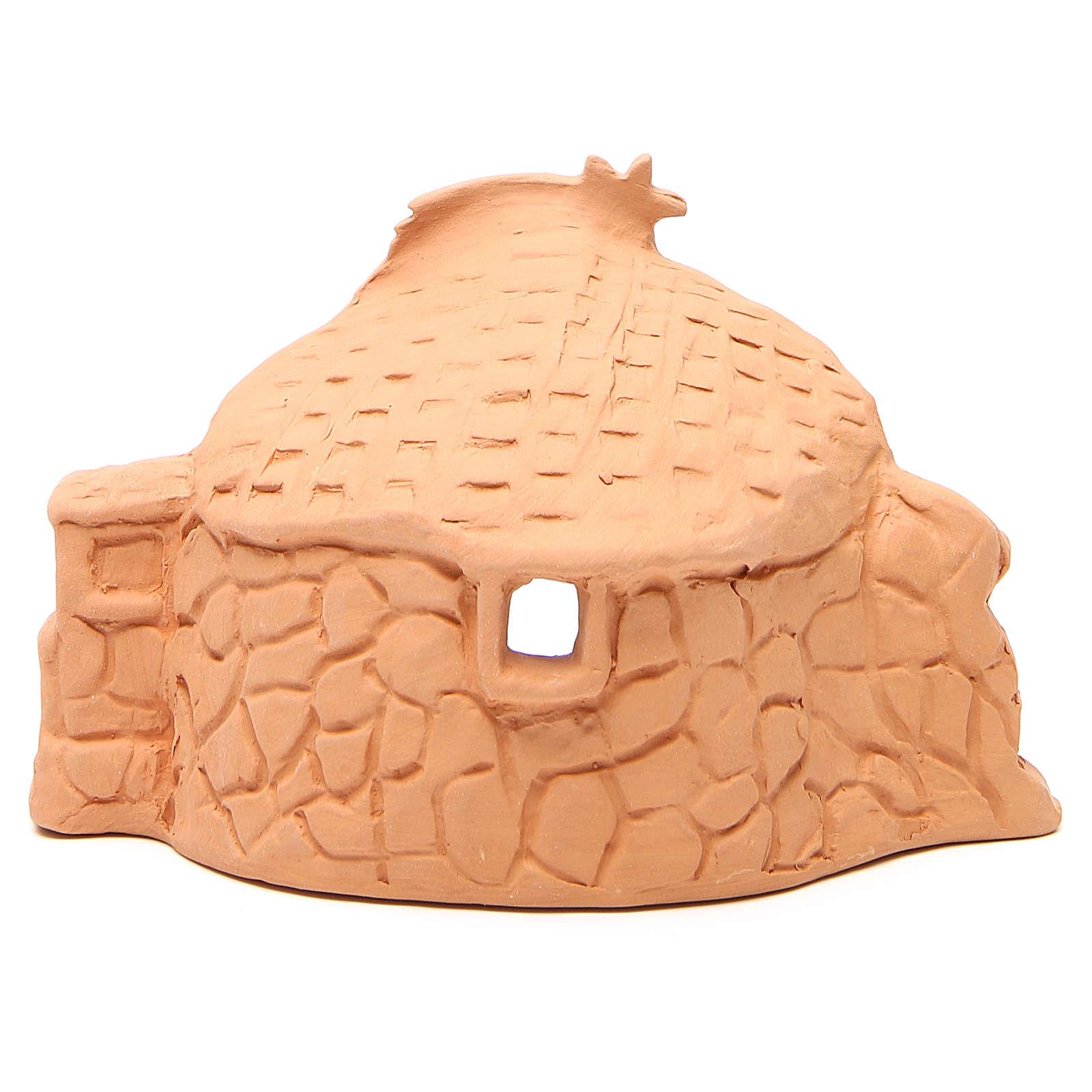 Natività terracotta ambientata h.15x20x11 cm 4