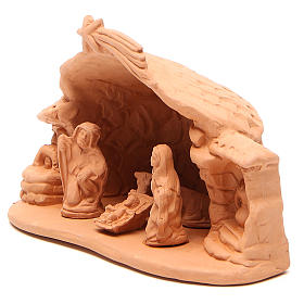 Natività terracotta ambientata h.15x20x11 cm s2