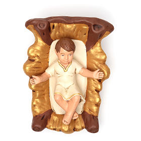 Nativity painted Terracotta 30cm 5 pcs s4